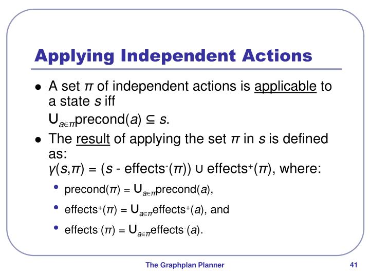 Applying Independent Actions