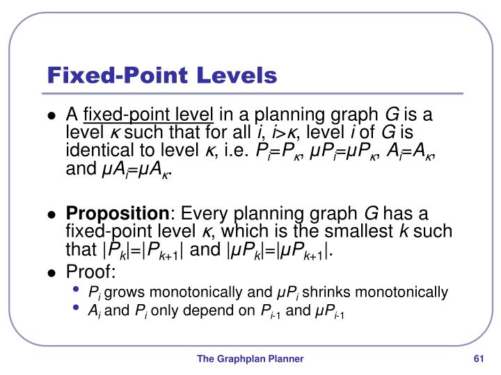 Fixed-Point Levels