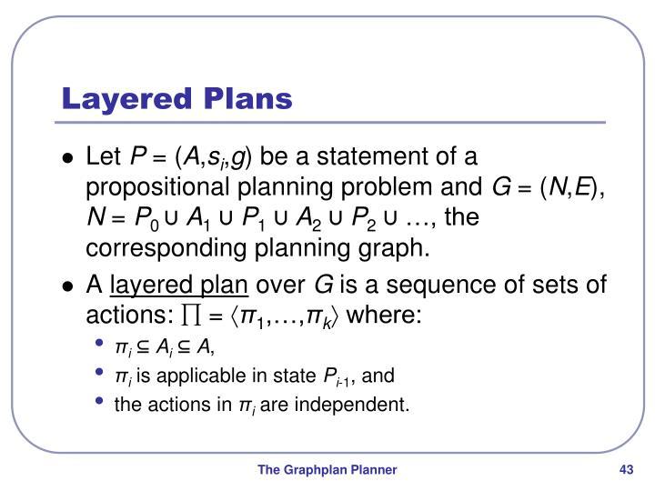 Layered Plans