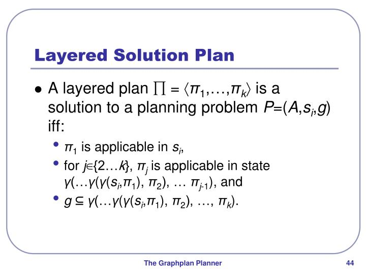 Layered Solution Plan