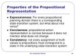 properties of the propositional representation