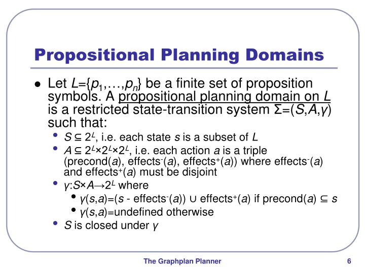 Propositional Planning Domains