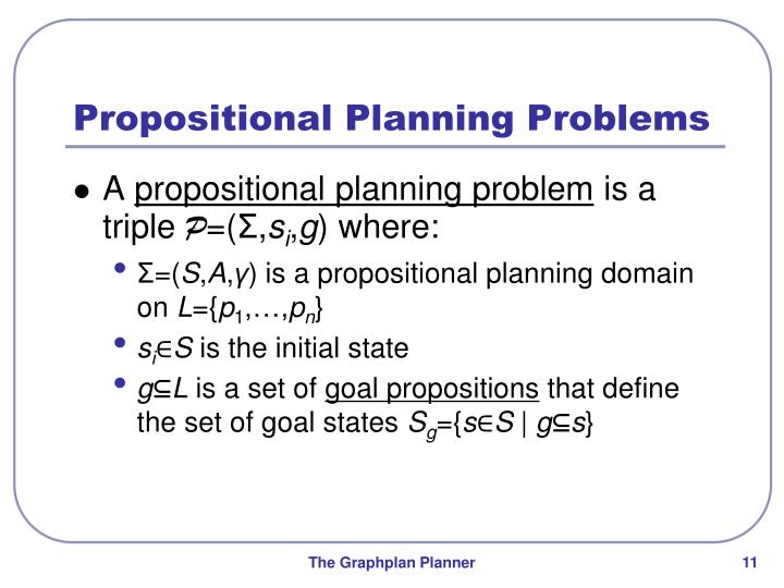 Propositional Planning Problems