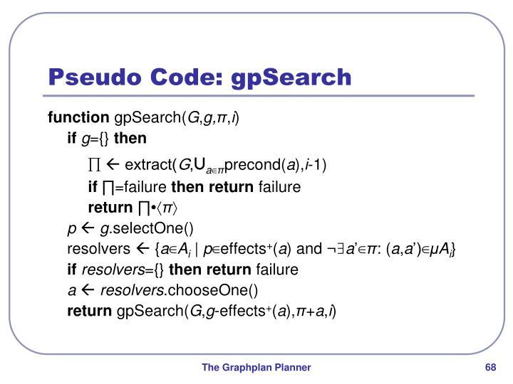 Pseudo Code: