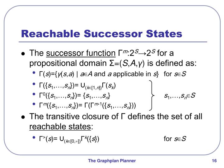 Reachable Successor States