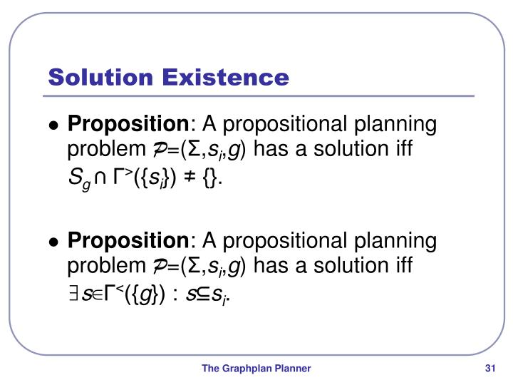 Solution Existence