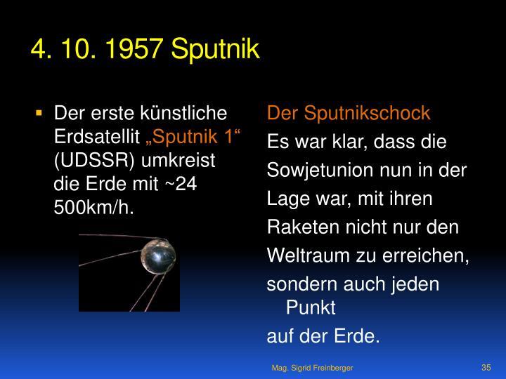 4. 10. 1957 Sputnik