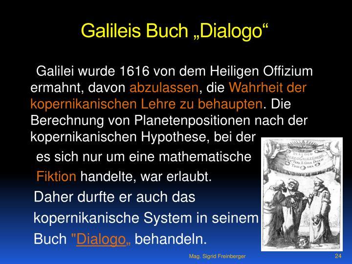 "Galileis Buch """