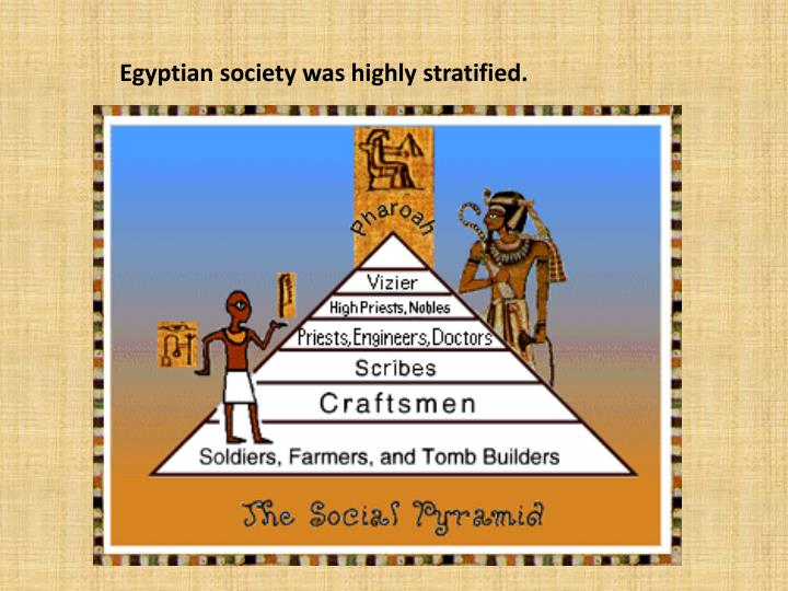Egyptian society was highly