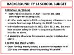 background fy 14 school budget