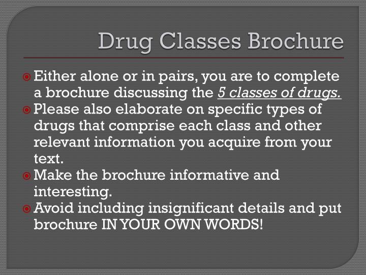 Drug Classes Brochure