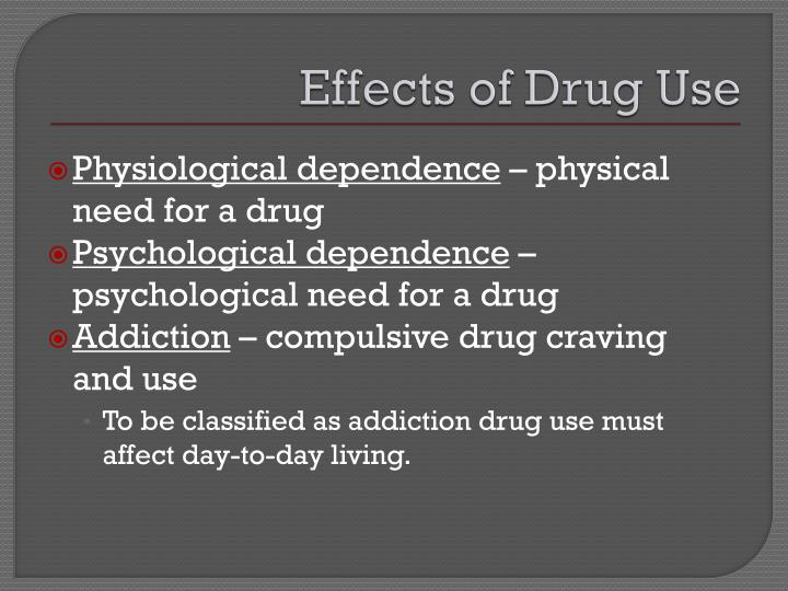 Effects of Drug Use