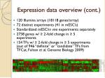 expression data overview cont