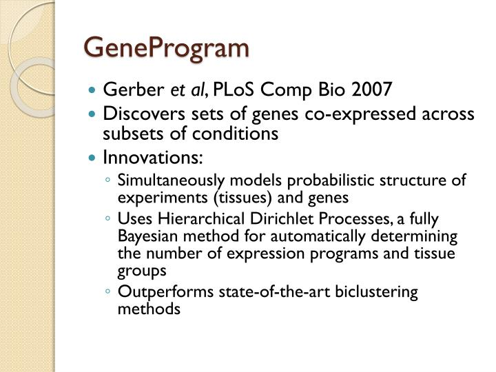 GeneProgram