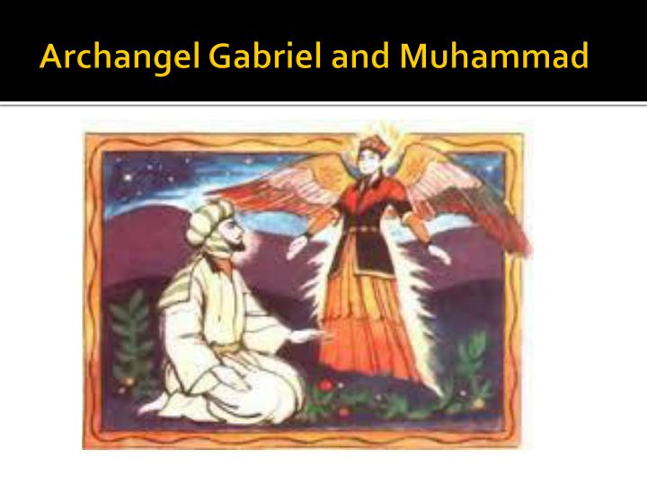Archangel Gabriel and Muhammad