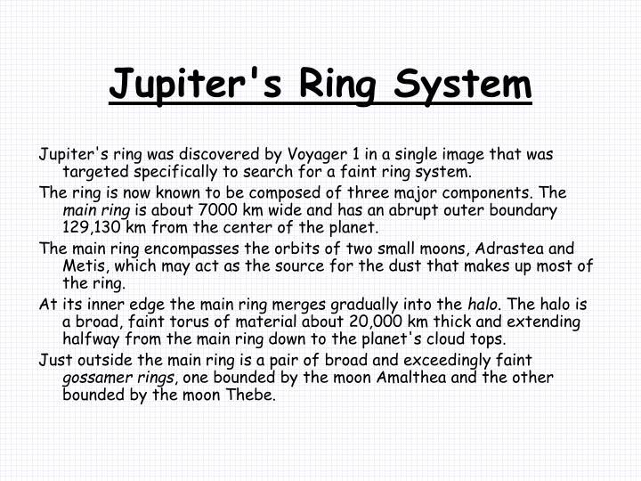 Jupiter's Ring System