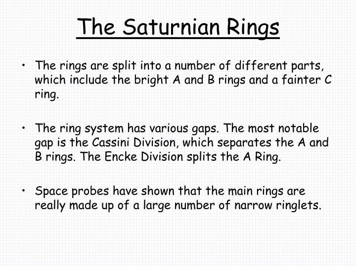 The Saturnian Rings
