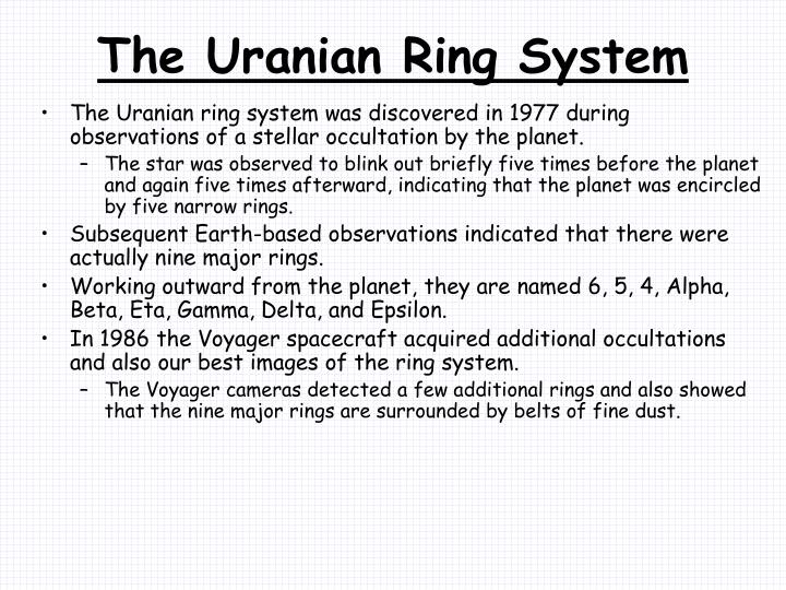 The Uranian Ring System