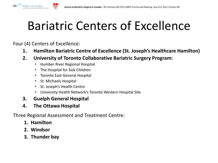 Bariatric Centers of Excellence