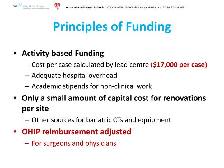 Principles of Funding