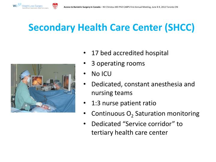 Secondary Health Care Center (SHCC)