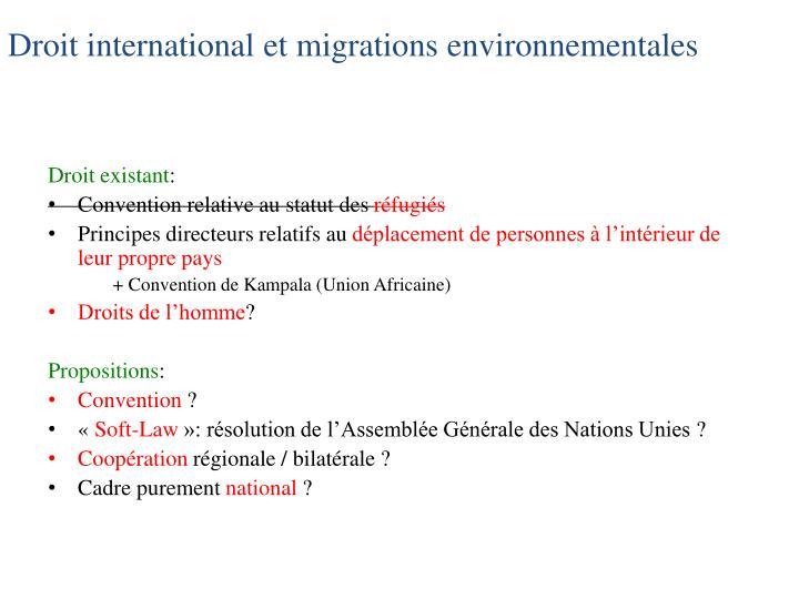 Droit international et
