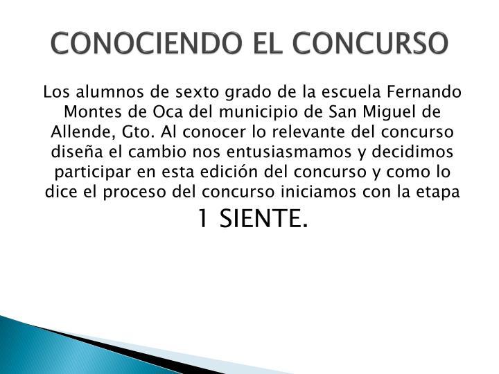 CONOCIENDO EL CONCURSO