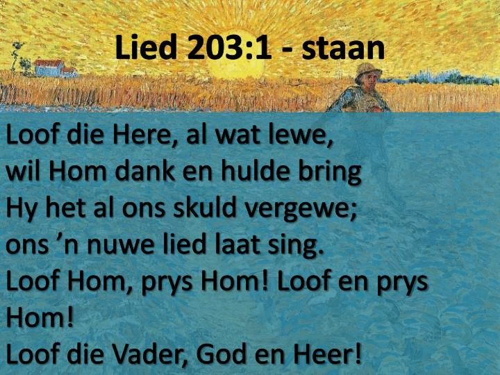 Lied 203:1 - staan