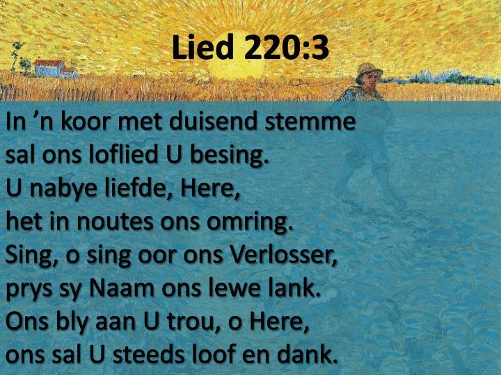 Lied 220:3