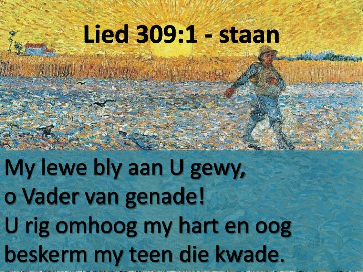 Lied 309:1 - staan