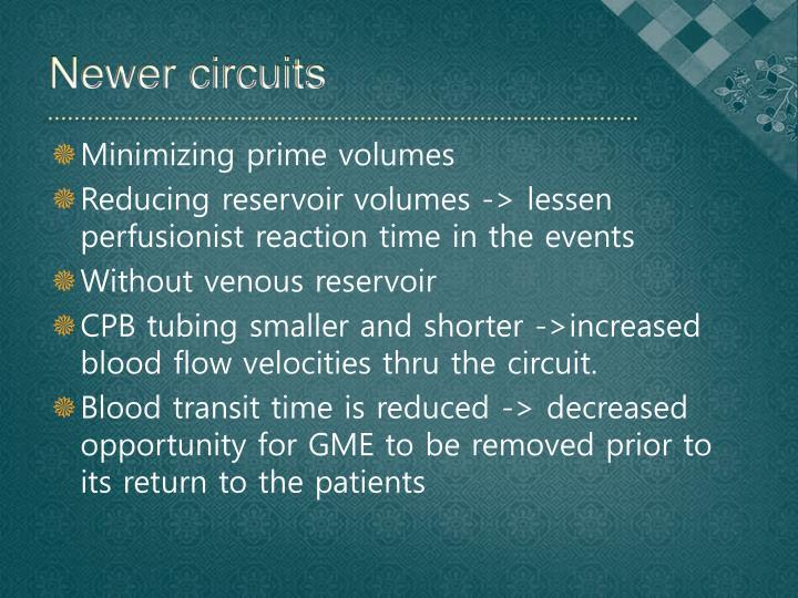 Newer circuits
