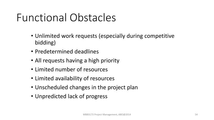 Functional Obstacles
