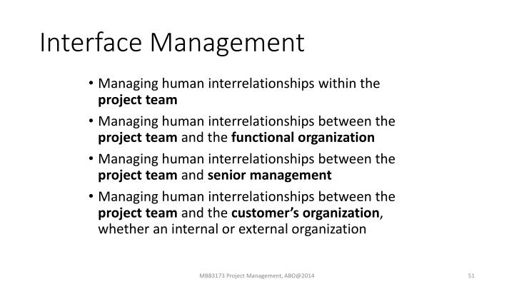 Interface Management