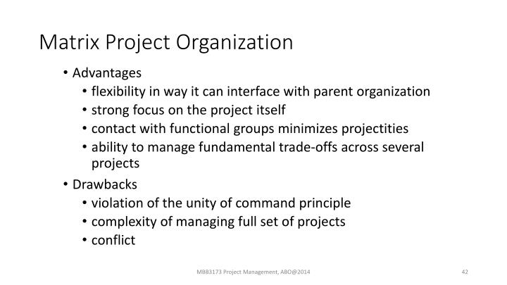 Matrix Project Organization