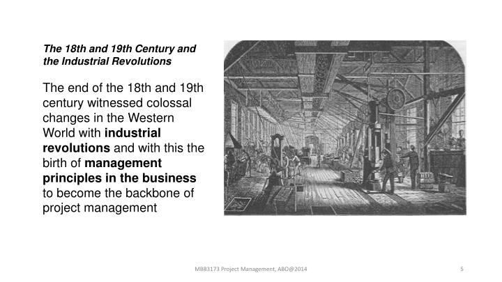 The 18th and 19th Century and the Industrial