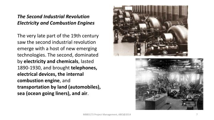 The Second Industrial Revolution Electricity and Combustion