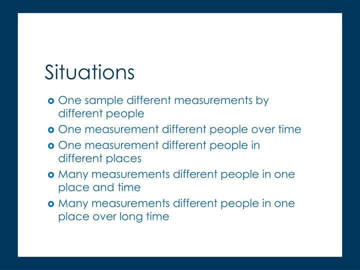 One sample different measurements by different people