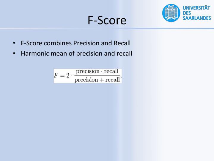 F-Score