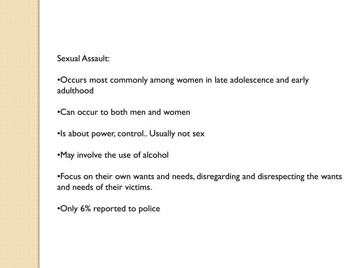 Sexual Assault: