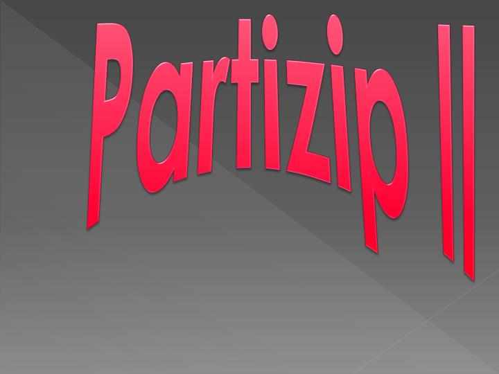 Partizip II