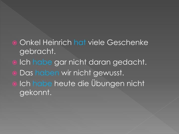 Onkel Heinrich
