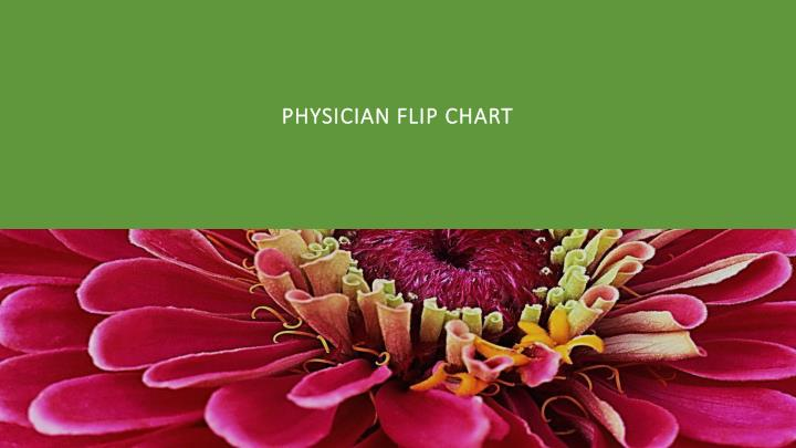 Physician flip chart