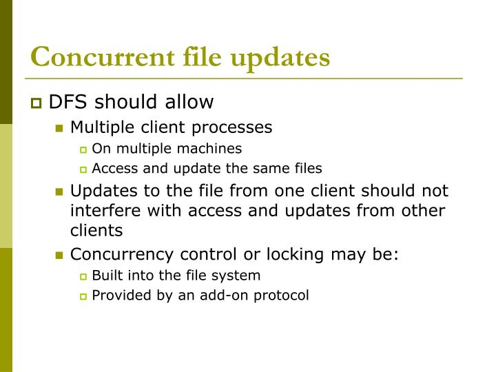 Concurrent file updates