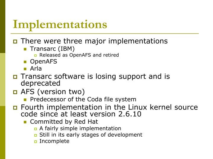 Implementations