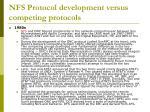 nfs protocol development versus competing protocols1