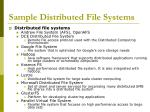 sample distributed file systems