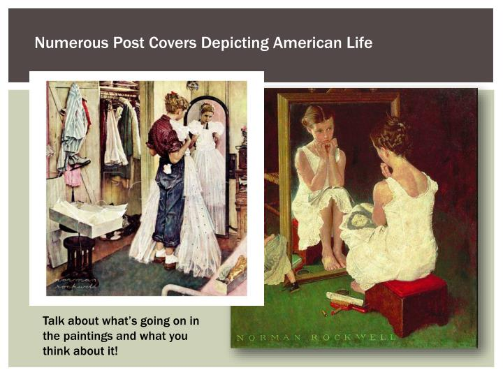 Numerous Post Covers Depicting American Life