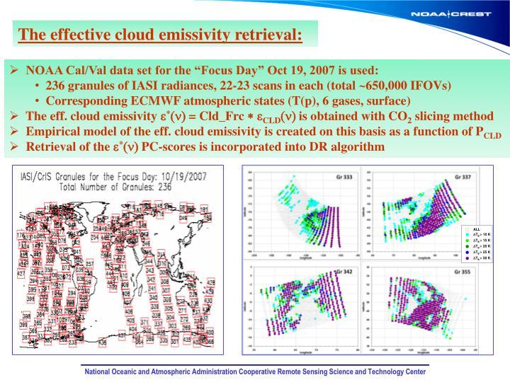 The effective cloud emissivity retrieval:
