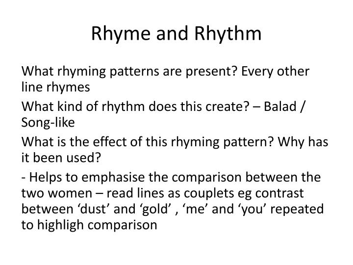 Rhyme and Rhythm