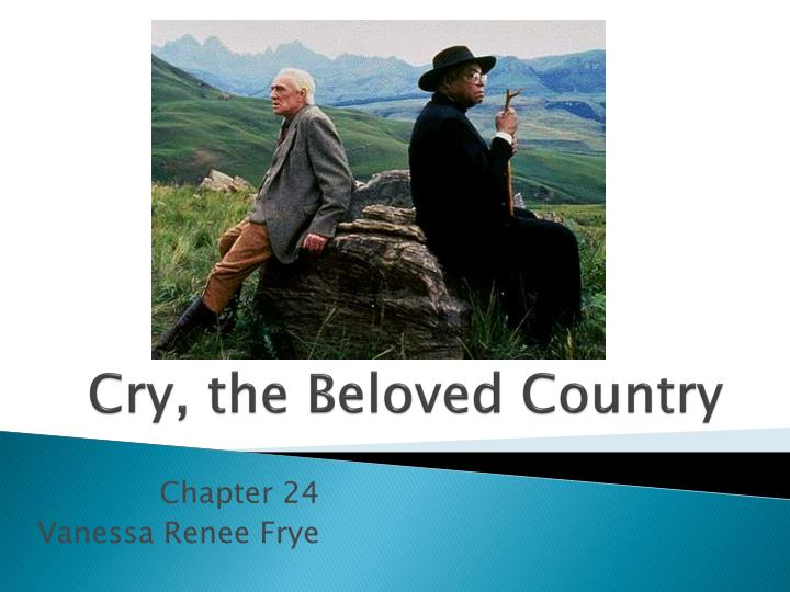 Essay On Cry The Beloved Country